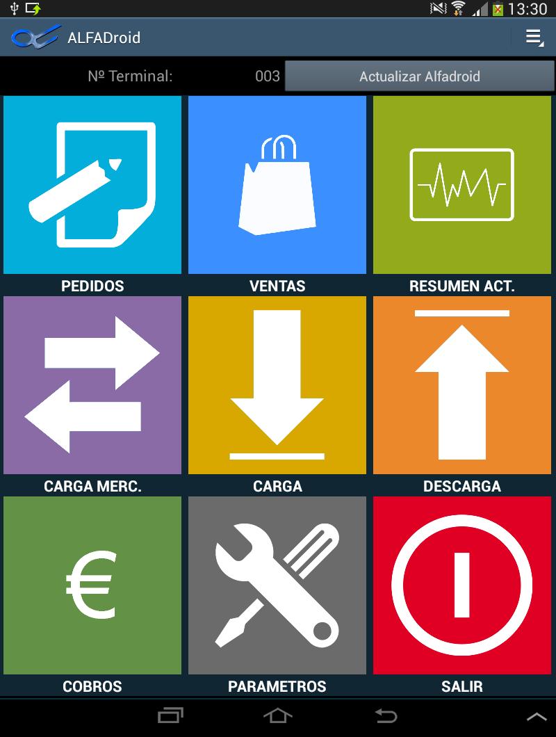 Alfadroid Gestión Comercial para Smartphones