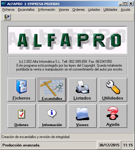AlfaPro Producción y Escandallos