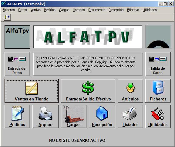 AlfaTpv Terminal Punto de Venta