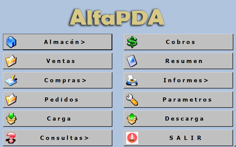 AlfaPda Gestión Comercial para PDAs